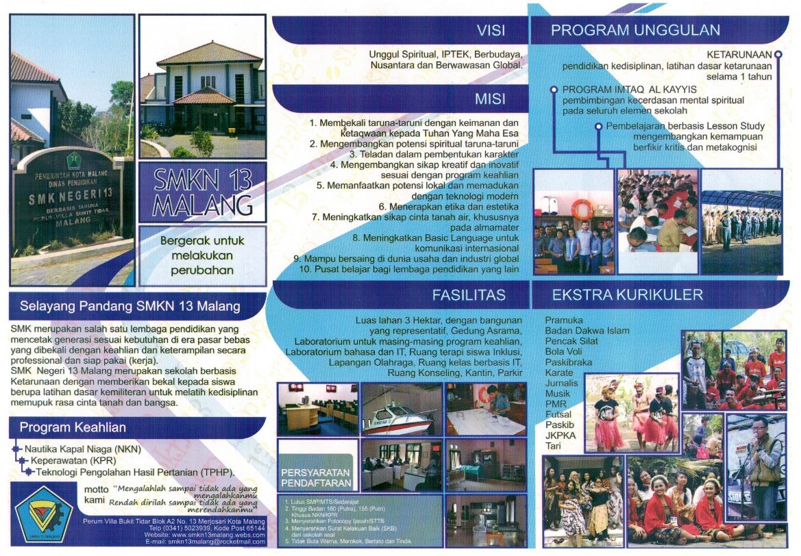 Brosur SMKN 13 Malang