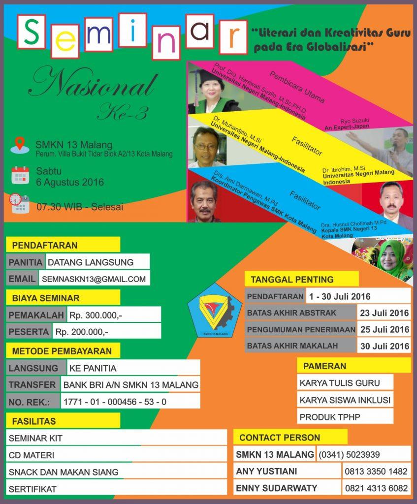 Seminar Nasional Ke-3 SMKN 13 Malang