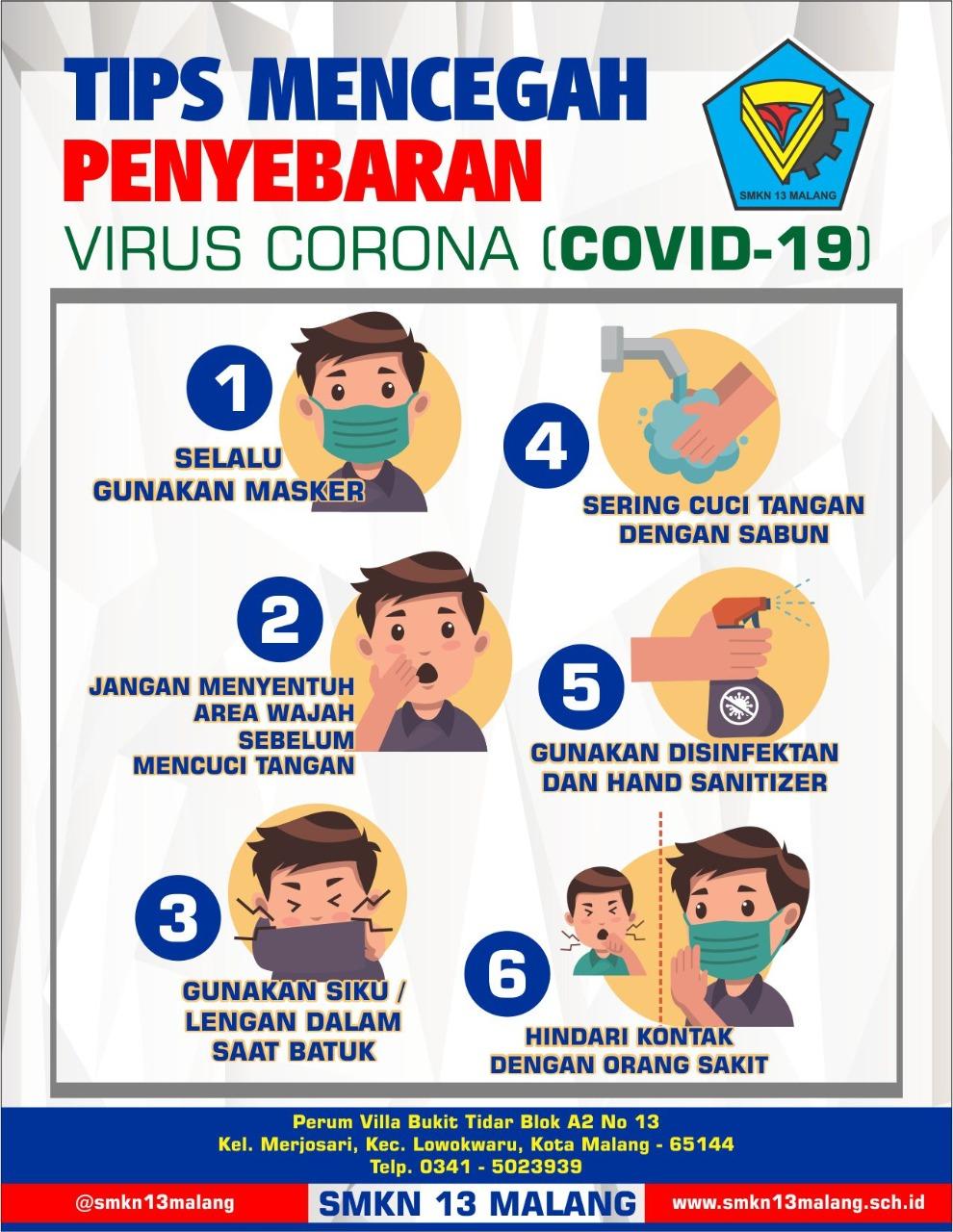 tips pencegahan virus corona